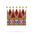 Crown icon3 vector image