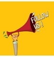 doodle Follow us banner comic Follow image vector image