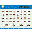 Game template for counting desserts vector image