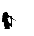 girl singing vector image