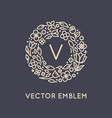 logo design template in trendy linear style with vector image