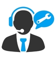 Service Manager Message Icon vector image