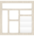 Set of White Banners on Light Wooden Surface vector image