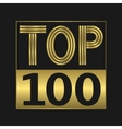 Top one hundred vector image
