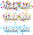 Thank you colour banners vector image