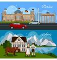 Germany Flat Composition vector image