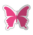 cute butterfly isolated icon vector image