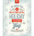 Christmas holidays type design vector image
