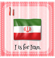 A letter I for Iran vector image vector image
