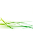 Ecological green abstract modern swoosh wave vector image