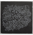 Sri Lanka country hand lettering and doodles vector image