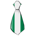 necktie in national colours of Nigeria vector image