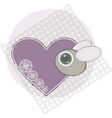 bug with love heart vector image vector image