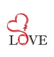 abstract heart tatoo vector image
