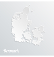 Abstract icon map of Denmark on a gray background vector image