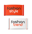 Fashion style and Fashion trend clothing labels vector image