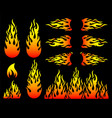 fire flame design elements vector image