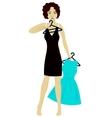 Girl choose dress vector image