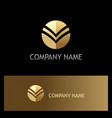 gold round abstract business company logo vector image