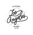 los angeles typographic print vector image