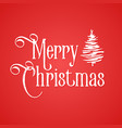 merry christmas inscription red background and vector image