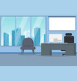 modern city office interior vector image