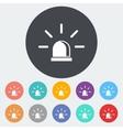 Police single icon vector image