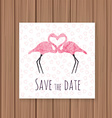 Save the Date card on a wooden background Can be vector image