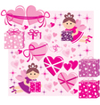 Scrapbook elements with hearts and fairies vector image