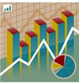 Set chart economy vector image
