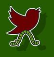 sticker unusual look tweet bird logotwitter icon vector image