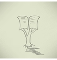 Vintage education open book tree vector image