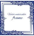 Watercolor vintage frame vector image
