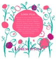 floral poster card vector image