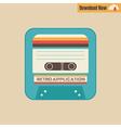 163tape cassette app vector image
