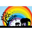 elephants in Africa vector image vector image