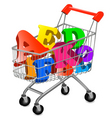 shopping cart ace vector image vector image