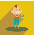 Flat with shadow icon and mobile application boy vector image