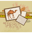 Art camel3 vector image