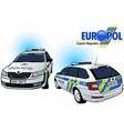 czech police car vector image