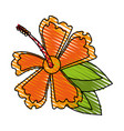 delicate flower doodle image vector image