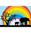 elephants in Africa vector image