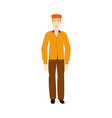 flat adult red-haired man isolated vector image