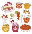 fruit dessert vector image