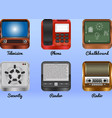 mobile android icons vector image