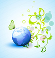 nature eco background vector image