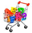 shopping cart ace vector image