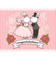 wedding bunnies vector image