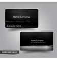 Business Card template set 55 Dark metal and steel vector image