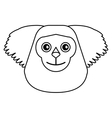 black bearded saki animal brazil outline vector image